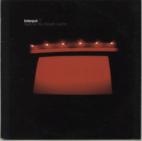 Interpol Turn On The Bright Lights vinyl LP album (LP record) US ITPLPTU674441