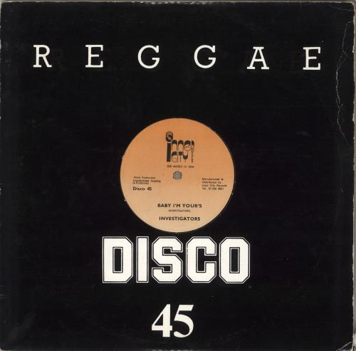 "Investigators Baby I'm Yours 12"" vinyl single (12 inch record / Maxi-single) UK ZN112BA716536"