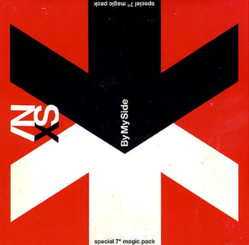 "Inxs By My Side 7"" vinyl single (7 inch record) UK INX07BY18480"