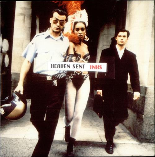 """Inxs Heaven Sent 7"""" vinyl single (7 inch record) UK INX07HE514750"""