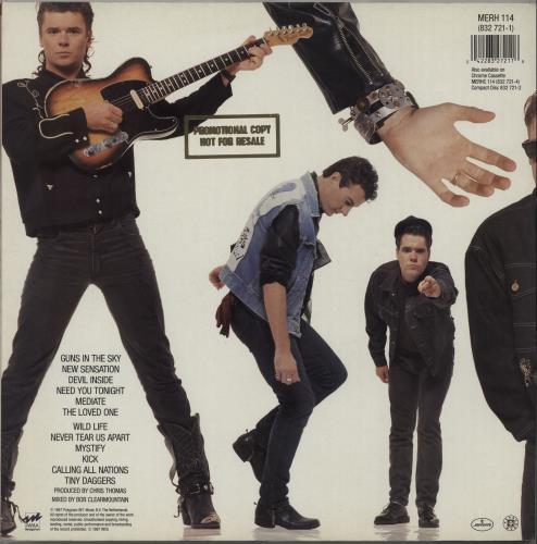 Inxs Kick - Promo stamped Sleeve vinyl LP album (LP record) UK INXLPKI662675
