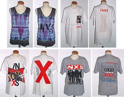 c6e16192b90 Inxs Quantity Of 9 Vintage T-shirts t-shirt UK INXTSQU295417