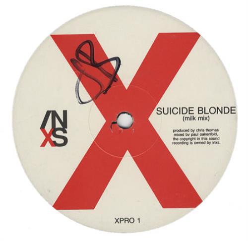"""Inxs Suicide Blonde 12"""" vinyl single (12 inch record / Maxi-single) UK INX12SU18307"""