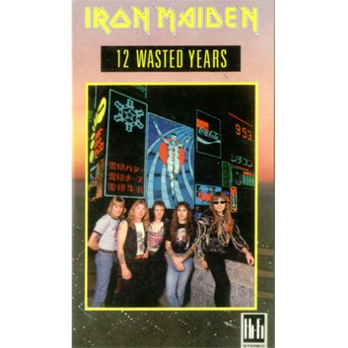 Iron Maiden 12 Wasted Years video (VHS or PAL or NTSC) UK IROVIWA92159