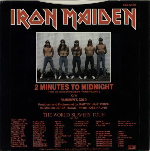 """Iron Maiden 2 Minutes To Midnight - 4 Prong 7"""" vinyl single (7 inch record) UK IRO07MI01456"""