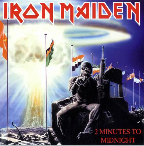 """Iron Maiden 2 Minutes To Midnight 7"""" vinyl single (7 inch record) UK IRO07MI615263"""