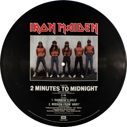 "Iron Maiden 2 Minutes To Midnight 12"" vinyl picture disc 12inch picture disc record UK IRO2PMI00694"