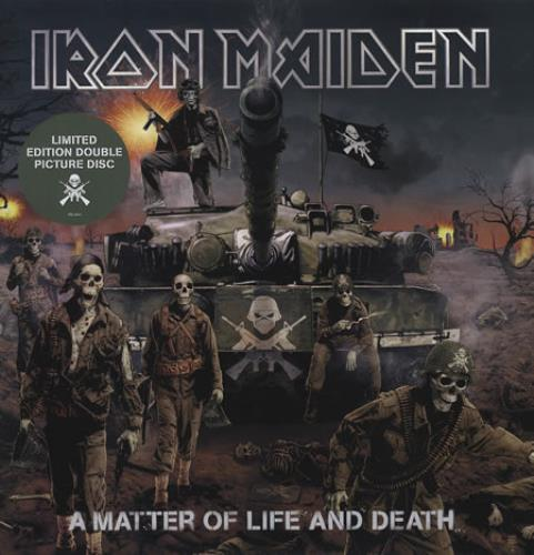 Iron Maiden A Matter Of Life And Death picture disc LP (vinyl picture disc album) UK IROPDAM368626
