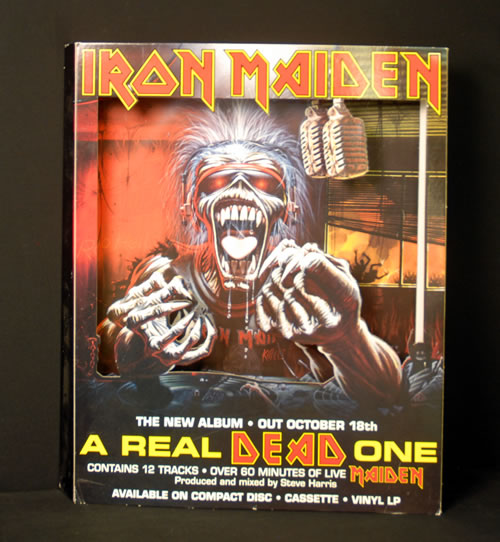 Iron Maiden A Real Dead One display UK IRODIAR633379