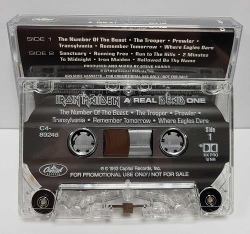 Iron Maiden A Real DEAD One US Promo cassette album (684637)