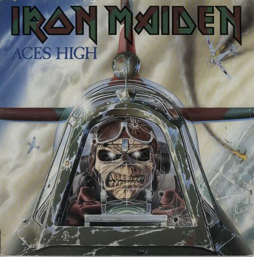 "Iron Maiden Aces High - EX 12"" vinyl single (12 inch record / Maxi-single) UK IRO12AC593028"