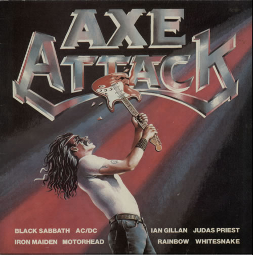 Iron Maiden Axe Attack - 1st vinyl LP album (LP record) UK IROLPAX314017