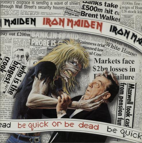 "Iron Maiden Be Quick Or Be Dead - Gatefold 12"" vinyl single (12 inch record / Maxi-single) UK IRO12BE60857"