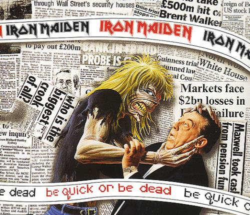 "Iron Maiden Be Quick Or Be Dead CD single (CD5 / 5"") UK IROC5BE388382"