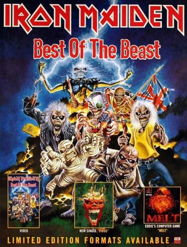 Iron Maiden Best Of The Beast poster UK IROPOBE80515