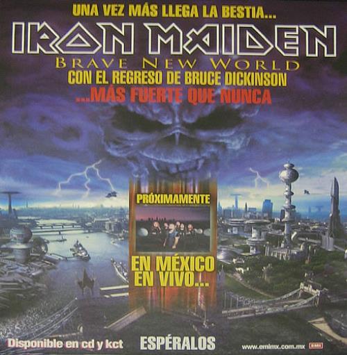 Iron Maiden Brave New World - Más Fuerte Que Nunca poster Mexican IROPOBR170860