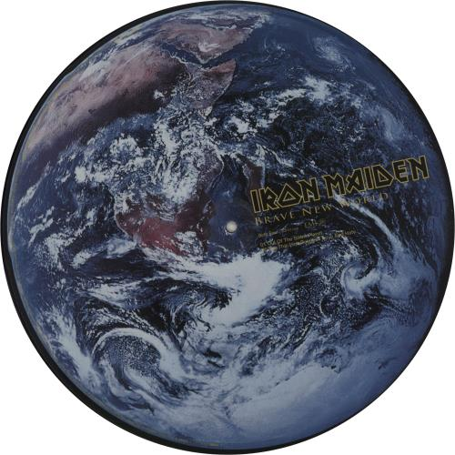 Iron Maiden Brave New World picture disc LP (vinyl picture disc album) UK IROPDBR157693