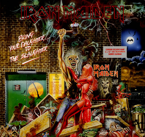 """Iron Maiden Bring Your Daughter To The Slaughter - EX 12"""" vinyl single (12 inch record / Maxi-single) UK IRO12BR562127"""