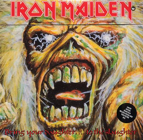"Iron Maiden Bring Your Daughter.... To The Slaughter 7"" vinyl picture disc 7 inch picture disc single UK IRO7PBR01444"
