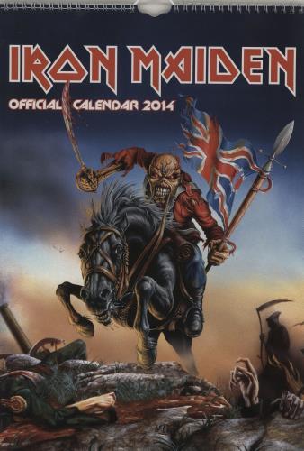 Iron Maiden Calendar 2014 calendar UK IROCACA762108