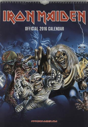 Iron Maiden Calendar 2016 - Danilo calendar UK IROCACA762110