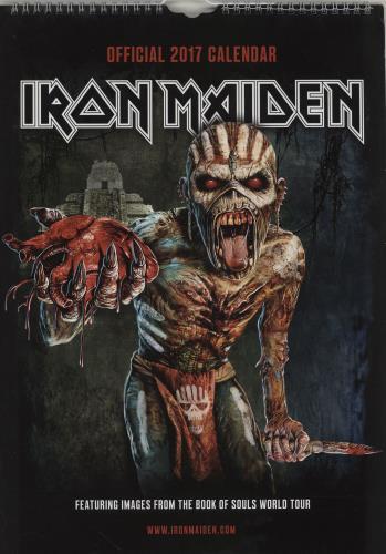 Iron Maiden Calendar 2017 - Danilo calendar UK IROCACA762112