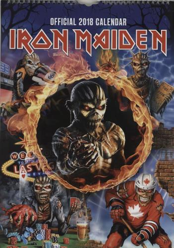 Iron Maiden Calendar 2018 - Danilo calendar UK IROCACA762113