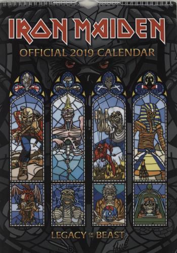 Iron Maiden Calendar 2019 - Danilo calendar UK IROCACA762116