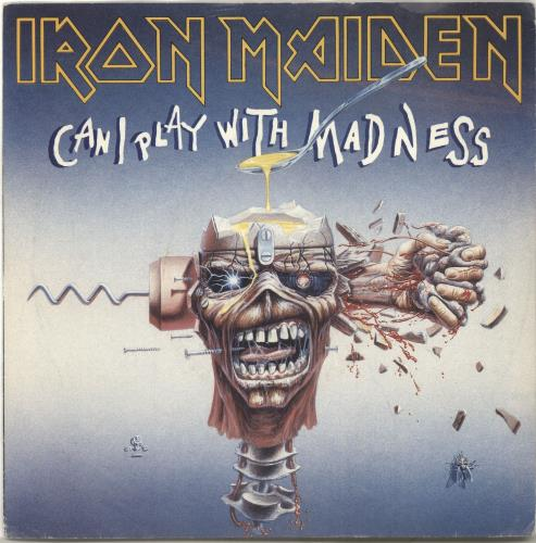 "Iron Maiden Can I Play With Madness - Inj + P/S 7"" vinyl single (7 inch record) UK IRO07CA702423"