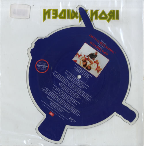 Iron Maiden Can I Play With Madness - Stickered Sleeve shaped picture disc (picture disc vinyl record) UK IROSHCA24539