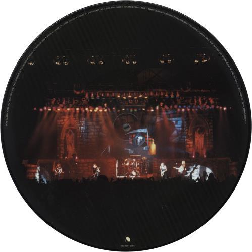 Iron Maiden Death On The Road - Promo Stickered picture disc LP (vinyl picture disc album) UK IROPDDE739436