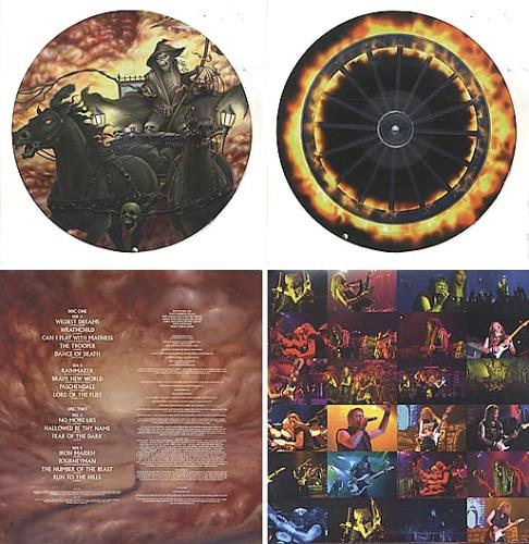 Iron Maiden Death On The Road picture disc LP (vinyl picture disc album) UK IROPDDE333177
