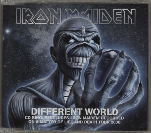 Iron Maiden Different World CD/DVD single set UK IROSDDI383091