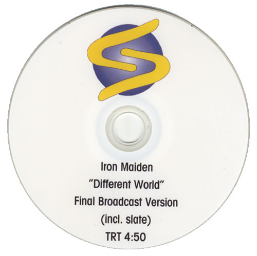 Iron Maiden Different World promo DVD-R UK IRODRDI434024