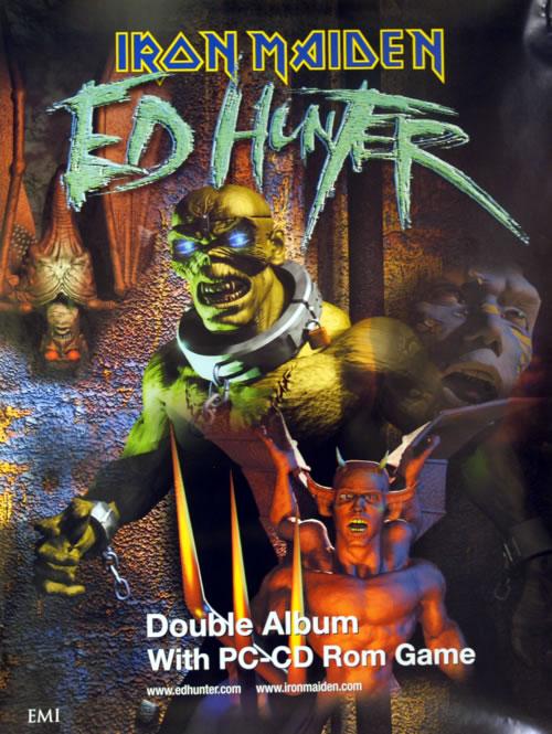 Iron Maiden Ed Hunter poster UK IROPOED611339