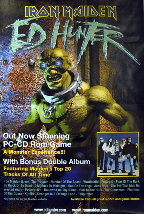 Iron Maiden Ed Hunter poster UK IROPOED611754