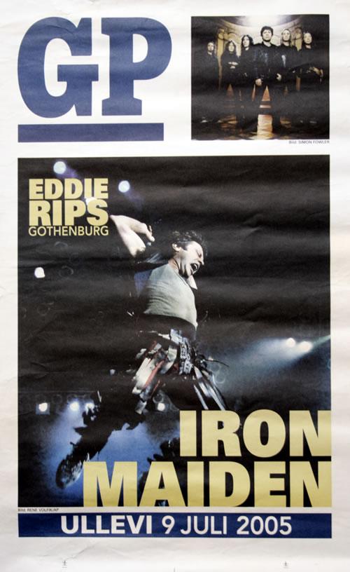 Iron Maiden Eddie Rips Gothenburg poster Swedish IROPOED561748