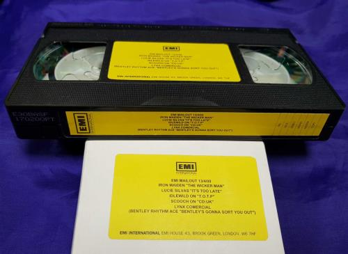 Iron Maiden EMI Mailout 13/4/00 video (VHS or PAL or NTSC) UK IROVIEM713805