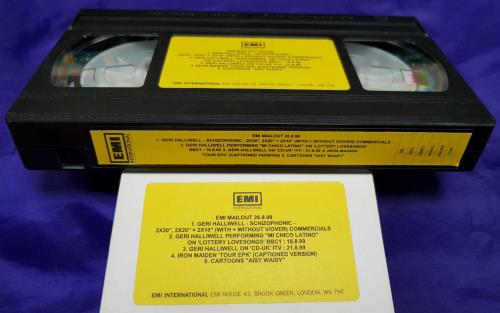 Iron Maiden EMI Mailout 26/8/99 video (VHS or PAL or NTSC) UK IROVIEM713814