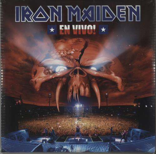 Iron Maiden En Vivo! - 180gram Vinyl + Sealed 3-LP vinyl record set (Triple Album) UK IRO3LEN677711