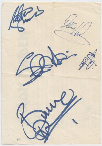 Iron Maiden Fan Club Form - Autographed memorabilia UK IROMMFA650620
