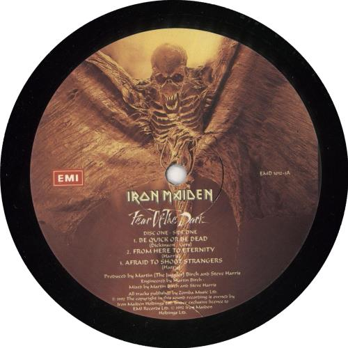 Iron Maiden Fear Of The Dark + Insert 2-LP vinyl record set (Double Album) UK IRO2LFE720568