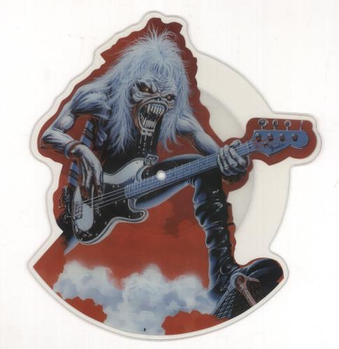 Iron Maiden Fear Of The Dark Live - 'Tailgunner' Mispress shaped picture disc (picture disc vinyl record) UK IROSHFE434357
