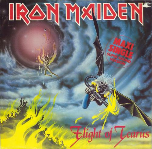 "Iron Maiden Flight Of Icarus - EX 12"" vinyl single (12 inch record / Maxi-single) German IRO12FL00731"