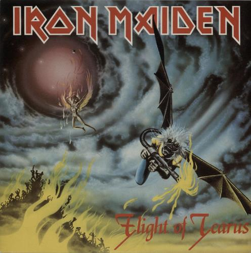 "Iron Maiden Flight Of Icarus - Injection label 7"" vinyl single (7 inch record) UK IRO07FL654782"