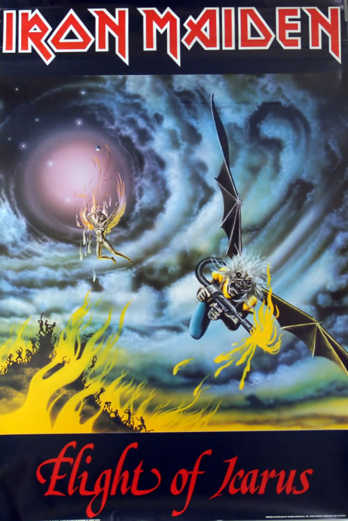 Iron Maiden Flight Of Icarus Uk Poster 611243