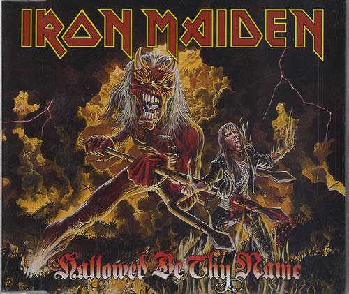"Iron Maiden Hallowed Be Thy Name CD single (CD5 / 5"") UK IROC5HA22503"