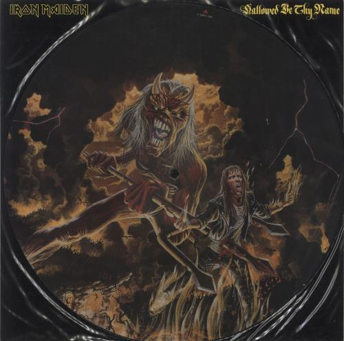 "Iron Maiden Hallowed Be Thy Name 12"" vinyl picture disc 12inch picture disc record UK IRO2PHA22511"