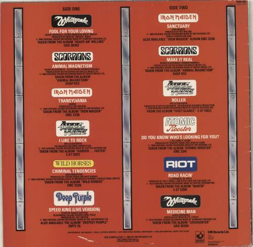Iron Maiden Heavy Duty vinyl LP album (LP record) UK IROLPHE713660