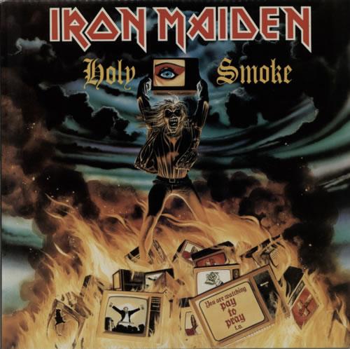 """Iron Maiden Holy Smoke 12"""" vinyl single (12 inch record / Maxi-single) UK IRO12HO563819"""